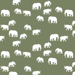 Elephant Silhouette in Olive