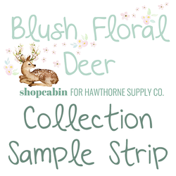 Blush Floral Deer Sample Strip