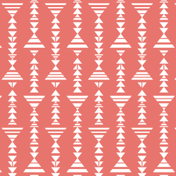 Little Tribal Stripe in Living Coral