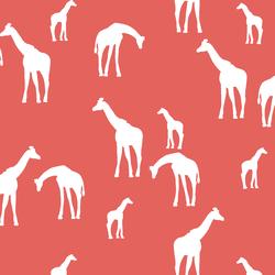 Giraffe Silhouette in Salmon