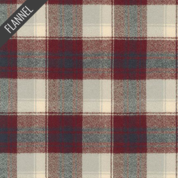 Mammoth Layered Gingham Plaid Flannel in Burgundy