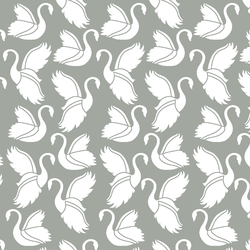 Swan Silhouette in Sage