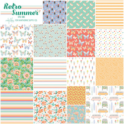 Retro Summer Fat Quarter Bundle Little Scale
