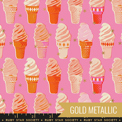 Icecream Cones in Metallic Bubble Gum Pink