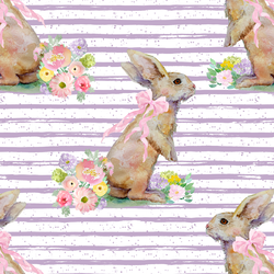 Striped Bunny Tales in Lavender