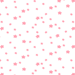 Star Light in Rose Pink on White