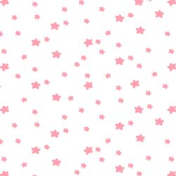 Star Light in Rose Pink on White