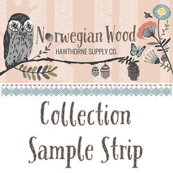 Norwegian Wood Sample Strip
