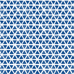 Triangles Knit in Blue
