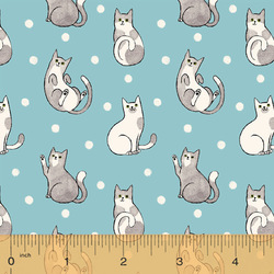 Happy Cats in Aqua