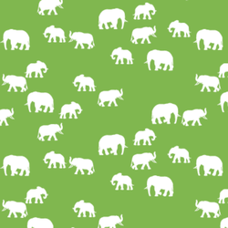 Elephant Silhouette in Greenery
