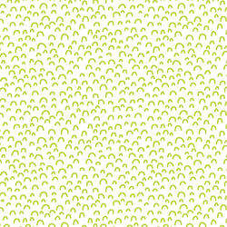 Doodle in Lime on White