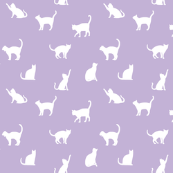 Cat Silhouette in Lilac