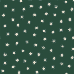 Daisy Dots in Green Unbleached