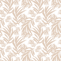 Large Palm Fronds in Natural Tan on White