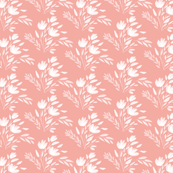 Etched Floral in Rose Pink