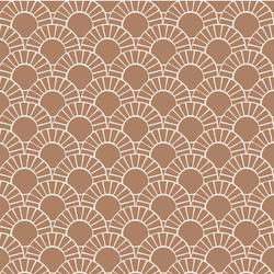 Mosaic Sun Tile in Maple Brown