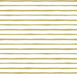 Artisan Stripe in Brass on White