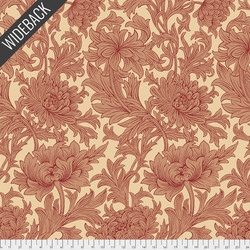 Chrysanthemum Toile Backing in Red