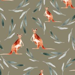 Big Kangaroos in Dusty Olive