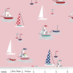 Seaside Boats in Pink