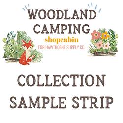 Woodland Camping Sample Strip