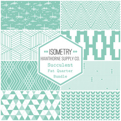 Isometry Fat Quarter Bundle in Succulent