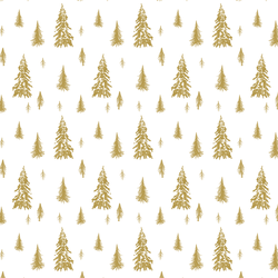 Snowy Pines in Gold