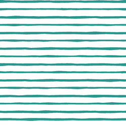 Artisan Stripe in Jade on White