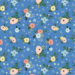Large Harbour Florals in Bright Blue
