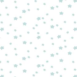 Star Light in Glacier Blue on White