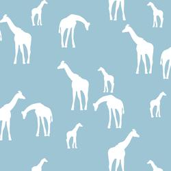 Giraffe Silhouette in Bluebell