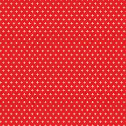 Little Geo Cross in Red