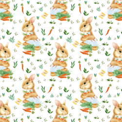 Little Bunny Boy in Spring