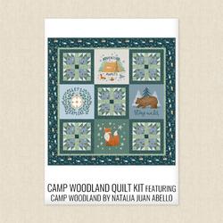 Camp Woodland Panel Quilt Kit