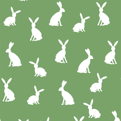 Cottontail Silhouette in Pistachio