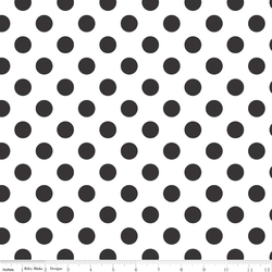 Medium Dots in Black on White