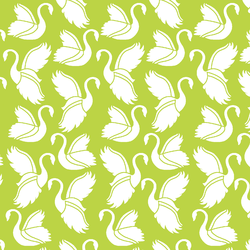 Swan Silhouette in Lime