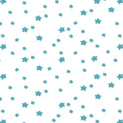 Star Light in Lagoon on White