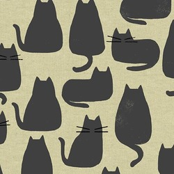 Whiskers Linen in Chat Gris
