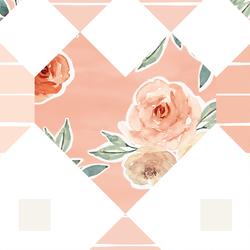 Large Patchwork in Vintage Rose
