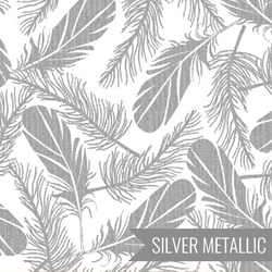 Feathers in Silver on White