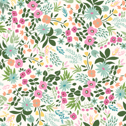 Tropical Floral in Cream