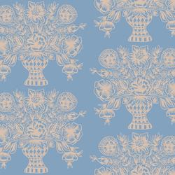 Vase Block Print in Blue