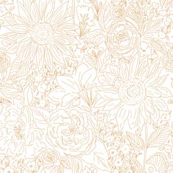 Paperie in Dark Sunflower on White