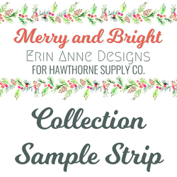 Merry and Bright Sample Strip