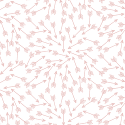 Arrows in Blush on White