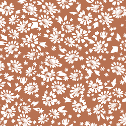 Daisies in Terracotta
