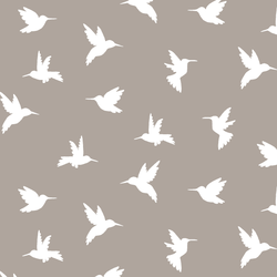 Hummingbird Silhouette in Taupe