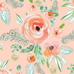 Summer Florals in Light Pink Sand
